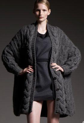 Stella McCartney Chunky Cable-Knit Cardigan Profile Photo ...