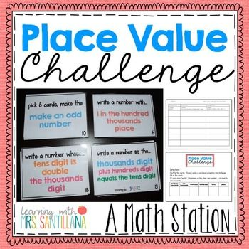 Students play and review place value.Includes a recording sheet of - Standard- Word- Expanded- 18 task cards