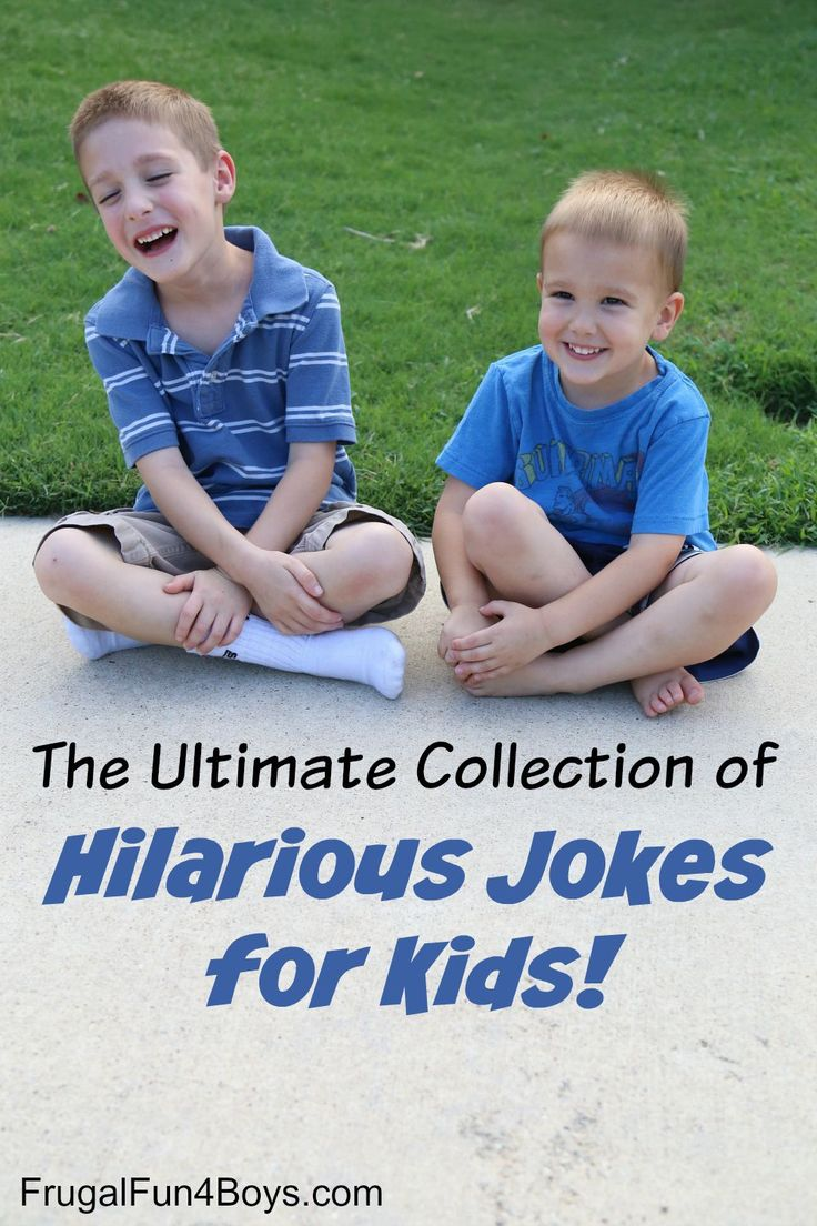 A huge collection of hilarious and clean jokes for kids!  Kid-tested and approved.