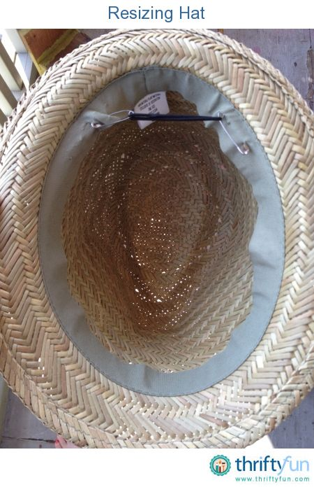 Here is a great way to make a large hat smaller.