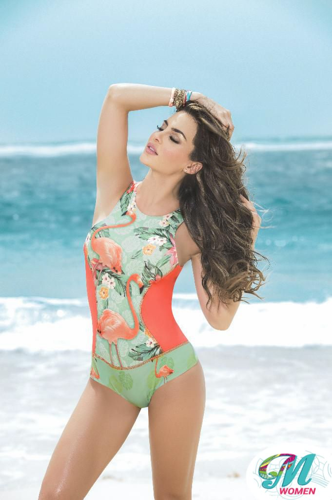 6813 One Piece Swimsuit Multi-colored $ 49.00