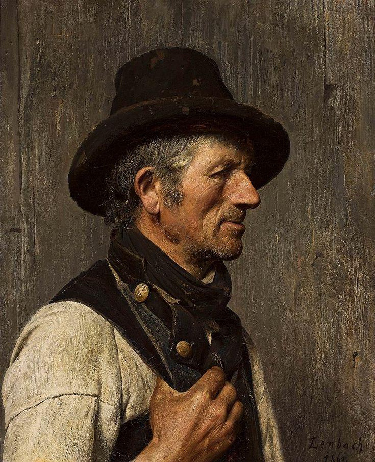 Portrait of a Peasant (Franz von Lenbach - )