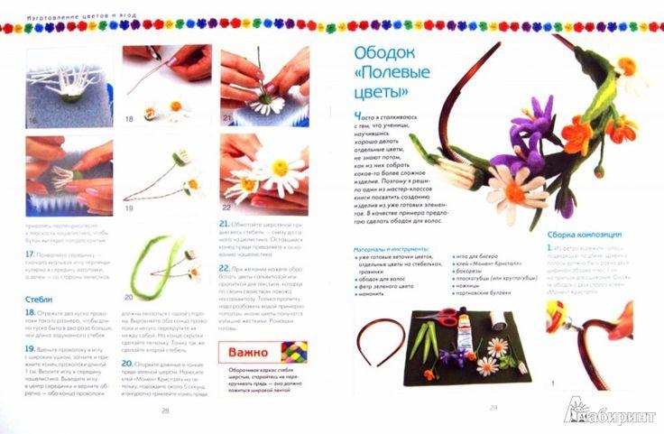 Иллюстрация 1 из 35 для Цветы из войлока - Виктория Козырь | Лабиринт - книги. Источник: Лабиринт
