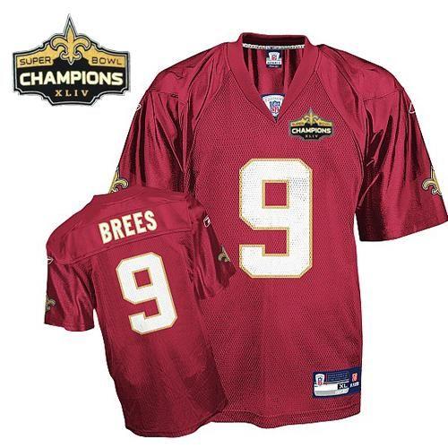 ... New Orleans Saints 9 BREES Black ELITE Jersey Saints 9 Drew Brees Red  Super Bowl XLIV Elite Mens Nike ... 4fb962383