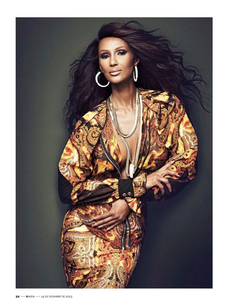 iman photo shoot 2014 2 Iman Stuns for Max Abadian in S Moda Cover Shoot