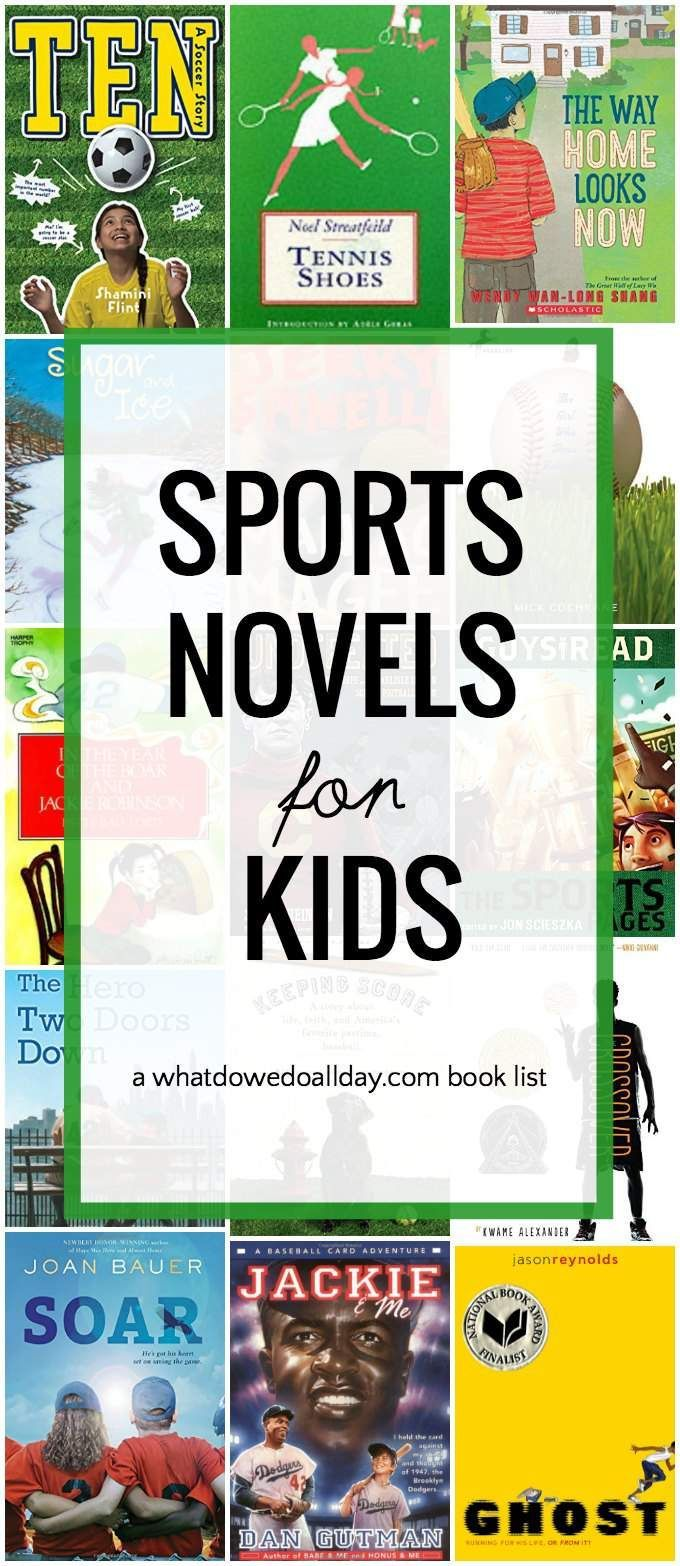 Best sports books for kids. Chapter books for ages 8 and up.
