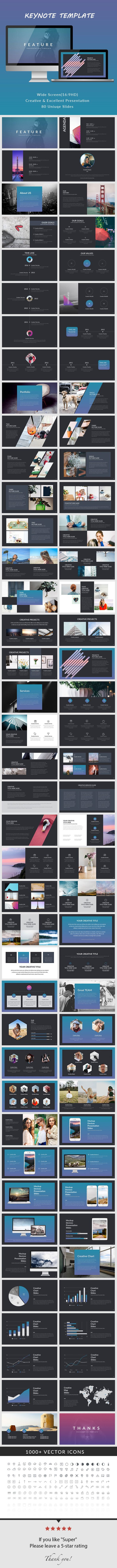 Feature Creative Keynote Presentation #modern #minimal • Download ➝ https://graphicriver.net/item/feature-creative-keynote-presentation/18457614?ref=pxcr