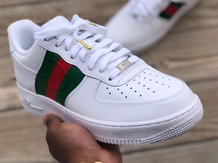 ac26618b4b707 Custom Gucci Af1s in 2019 | Stuff to buy | Sneakers nike, Sneakers ...