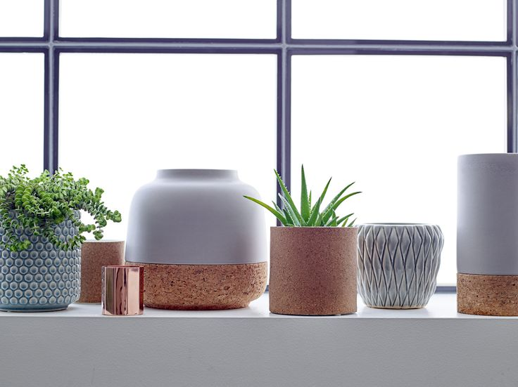 Vases and flower pots in dusty tones by Bloomingville - happy changes / http://ligloo.bigcartel.com