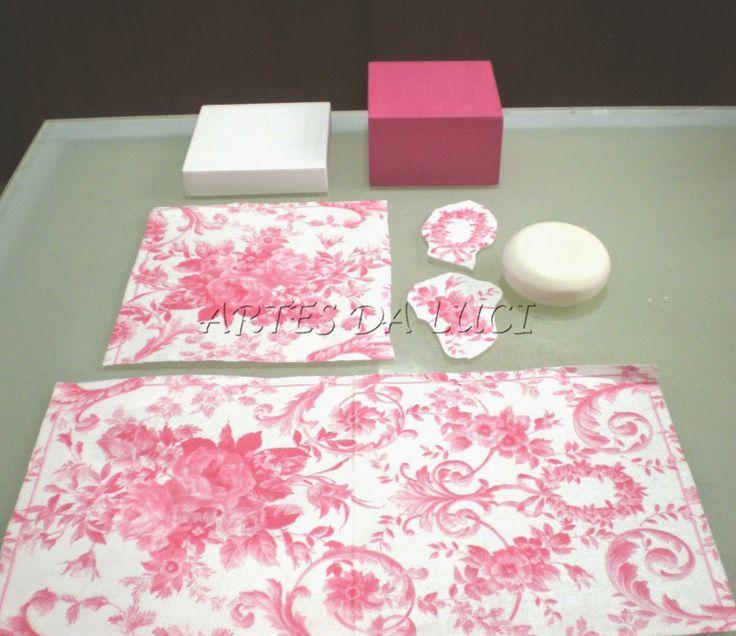 Artes da Luci: pap decoupagem em sabonetes com guardanapo