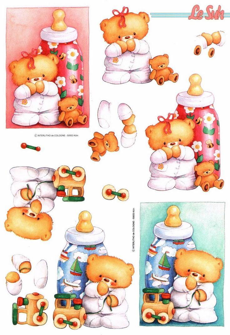 Ursinhos de Pijama e Mamadeira
