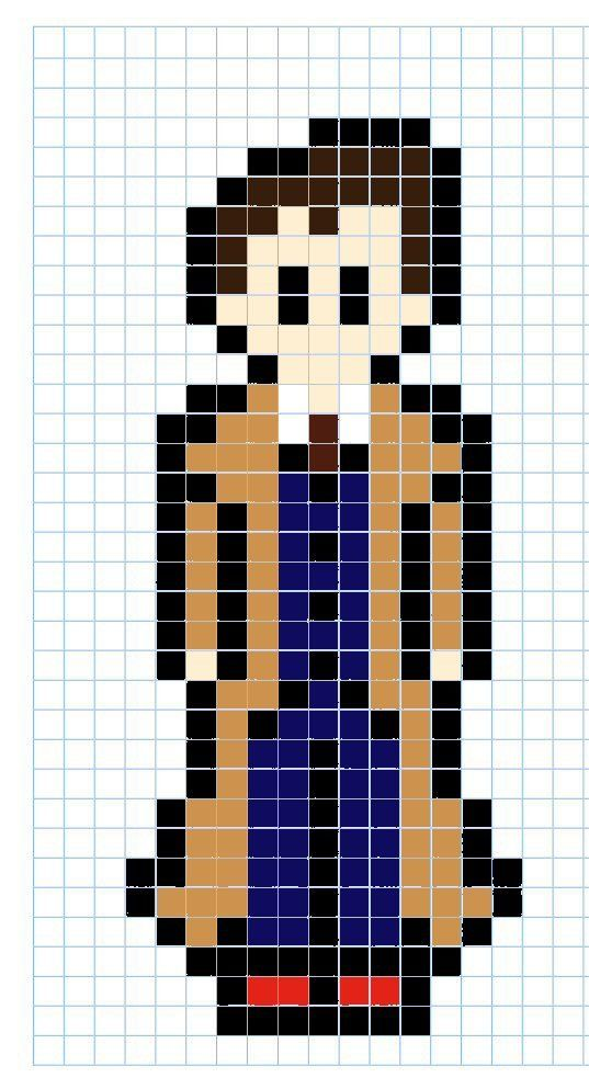 Perler 10th Doctor version2 by ~BartonBeads on deviantART