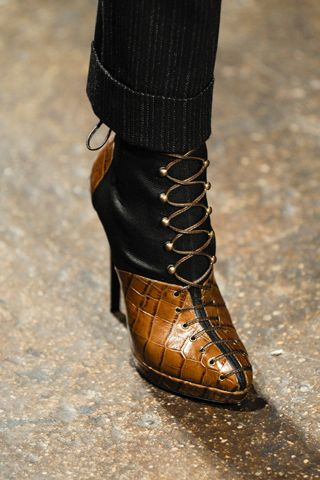 This is the perfect pant leg paired with the ideal bootie for fall in San Francisco, from Donna Karan Fall 2012