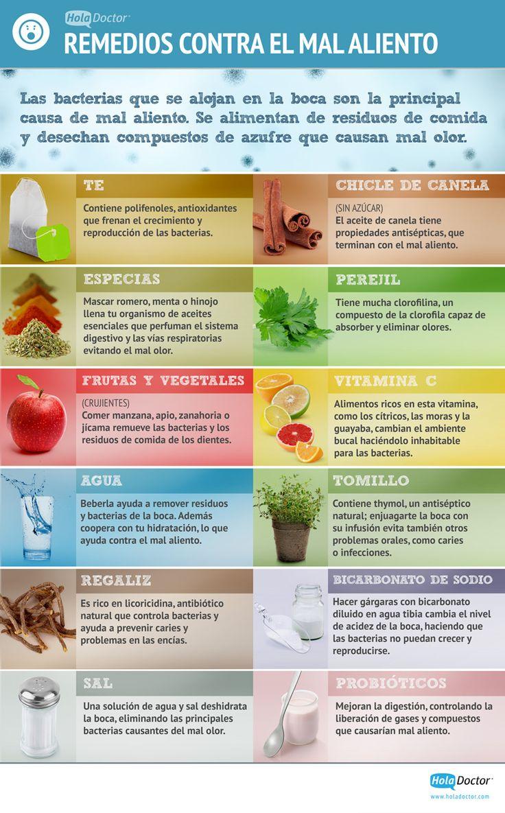 12 remedios naturales contra el mal aliento. #halitosis #infografia