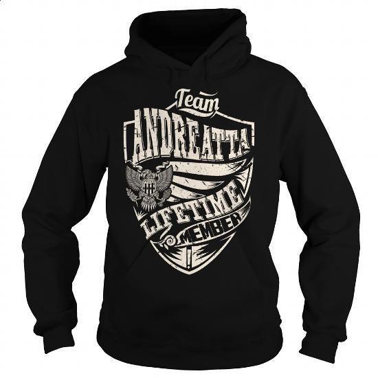 Last Name, Surname Tshirts - Team ANDREATTA Lifetime Member Eagle - #gift for men #retirement gift. ORDER HERE => https://www.sunfrog.com/Names/Last-Name-Surname-Tshirts--Team-ANDREATTA-Lifetime-Member-Eagle-Black-Hoodie.html?60505