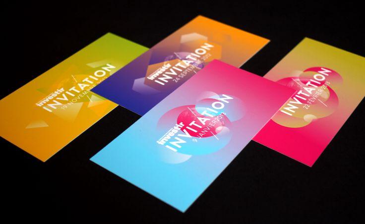 Design invitation Investir, by Grapheine