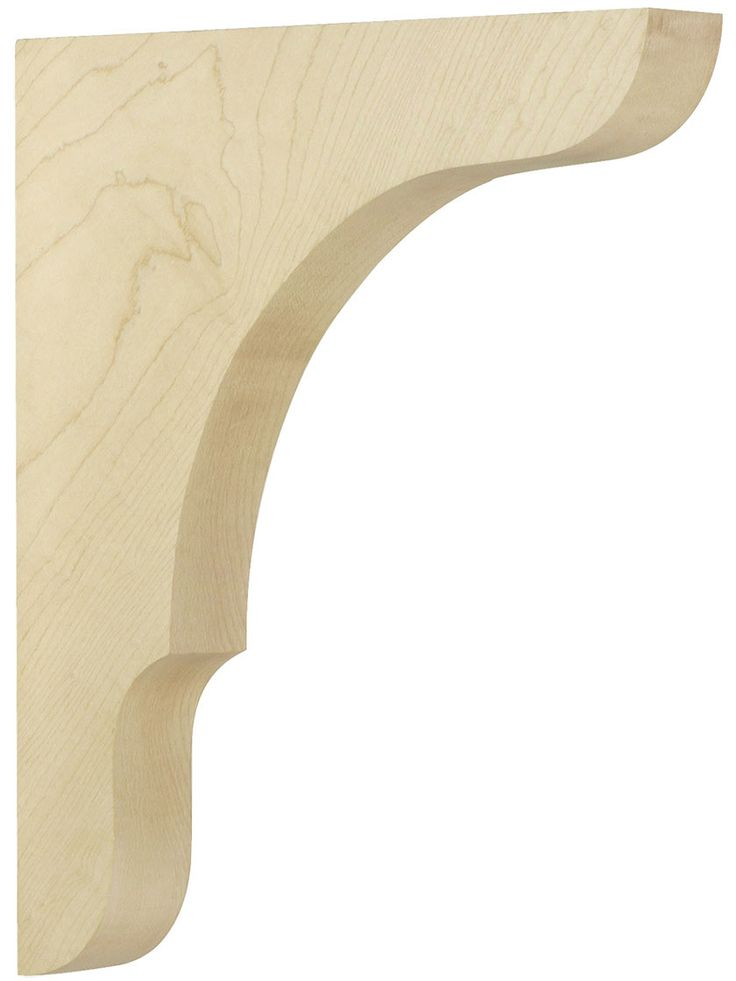 Wooden brackets large maple shelf bracket 11 x 9 x 1 1 for Architectural corbels and brackets