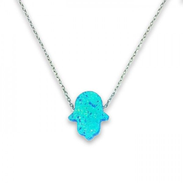 Opal taşlı gümüş kolye | bk001