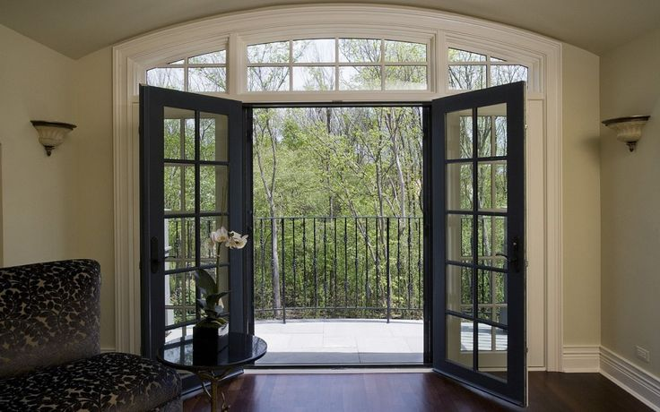 French doors with Phantom Screens