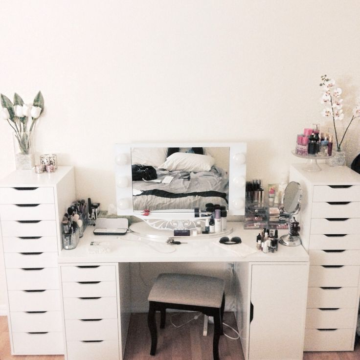 Vanity Set Up From Ikea And Mirror From