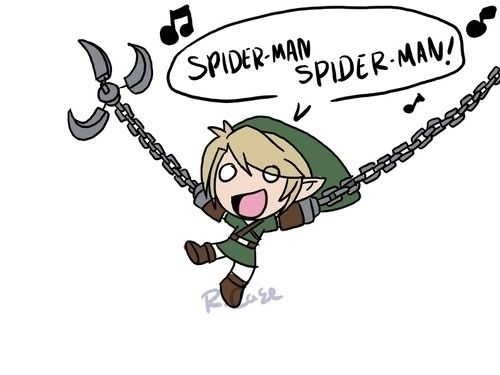 He'll save Zelda in the nick of time- watch out! Here comes the Hero Link!