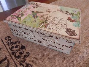 Mostrar detalles para Caja de té Vintage