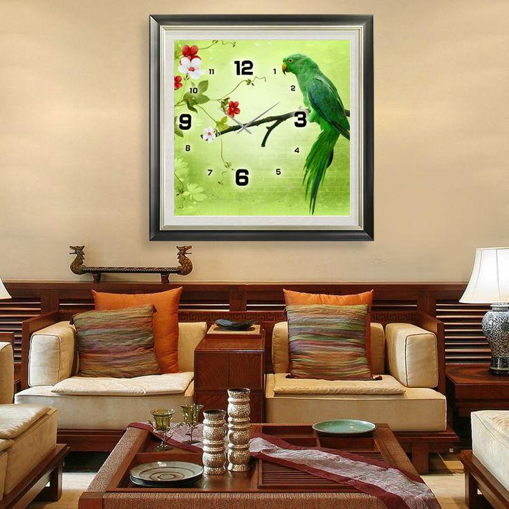 DIY - Parrot https://walldecordeals.com/diy-large-modern-design-decorative-diamond-mosaic-3d-wall-clocks-diamond-embroidery-parrot-mosaic-needlework-embroidery-beading/
