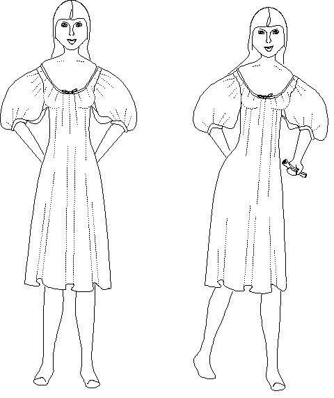 Chemise oder Shift, Unterwäsche Muster: historische Schnittmuster, 1800-1 von MantuaMakerPatterns auf Etsy https://www.etsy.com/de/listing/83445662/chemise-oder-shift-unterwasche-muster