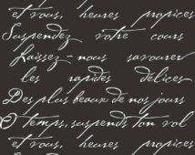 Francese poesia Craft Stencil - mobili fai da te e bricolage