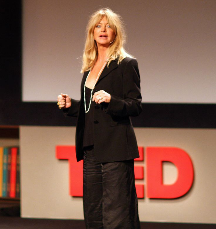 Goldie Hawn speaks at TED 2008 - February 28, 2008.