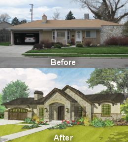 Best Ugly House Makeovers Images On Pinterest House