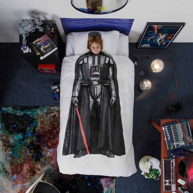 STAR WARS Darth Vader dekbedovertrek - SNURK https://www.livingdesign.be/nl/merken/snurk-beddengoed/kids