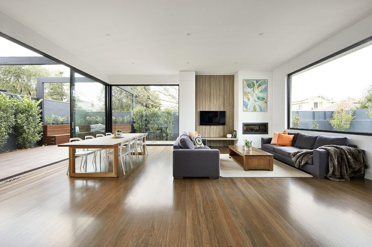LSA Architects - East Malvern, living room.