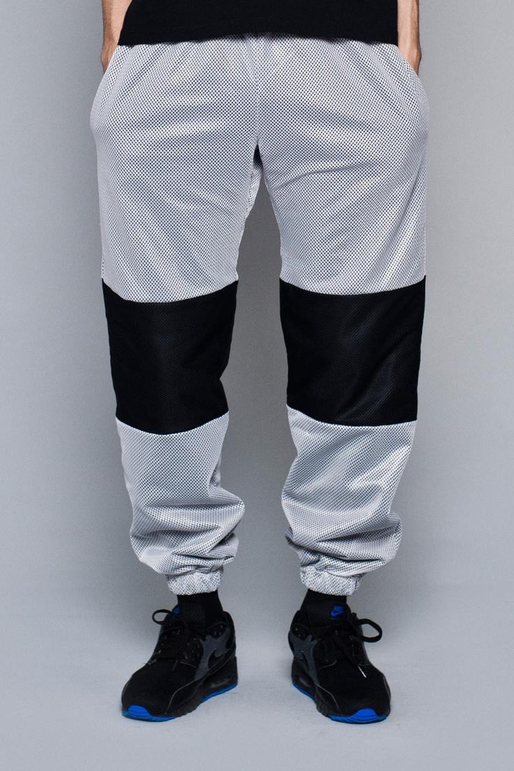 SHOOP NW Mesh white Sweatpant   http://shoopshop.bigcartel.com/product/nw-mesh-sweatpant-white