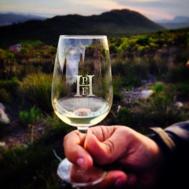 Enjoying the wine from the farm on the farm! Hermanuspietersfontein Nr 7 Sauvignon Blanc being enjoyed on our BWI Champion Farm