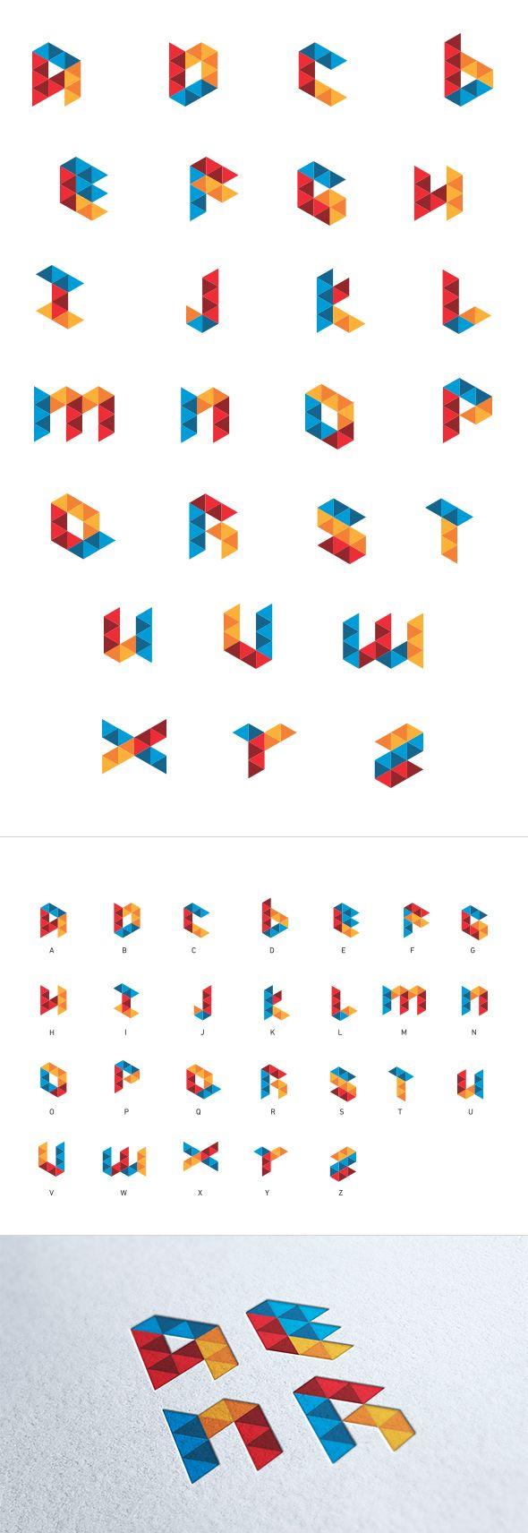 Geometric Alphabet Design on Behance
