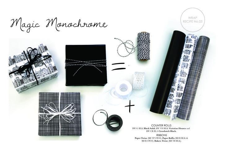 Bee Wrap Recipe #5 Black and White - Magic Monochrome
