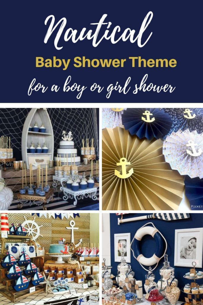 Nautical Baby Shower Theme For Boys Girls Decorations And Ideas