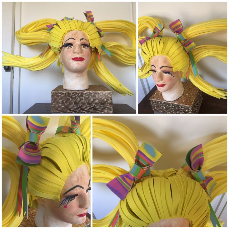 Bespoke Drag Queen Pigtails Foam Wig. Made to Order.