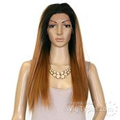 Sensationnel Synthetic Hair Cloud 9 Silk Based Swiss Lace Frontal Wig - VIXEN YAKI 24 (4way multi parting lace) - WigTypes.com