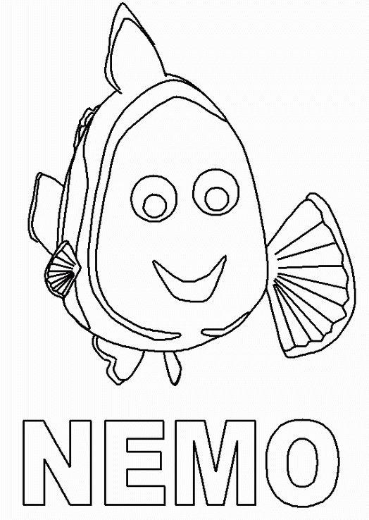 Disegni da colorare per bambini. Colorare e stampa Alla ricerca di Nemo 12