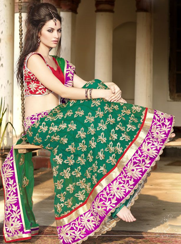 New Brilliant Outfit Lehenga Choli Designs Collection 2015 (5)