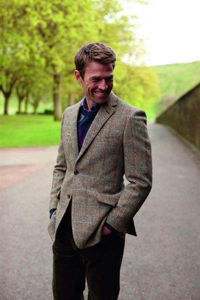 Светлый твидовый пиджак для мужчин