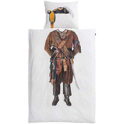 Buy Snurk Pirate Single Duvet Cover and Pillowcase Set Online at johnlewis.com