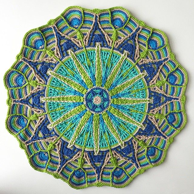 """Ta-da! Crochet Overlay Mandala No. 6 by CaroCreated, in Catania cotton. A gift for my dear parents.  #crochet #handmade #crochetmandala #mandala #haken…"""