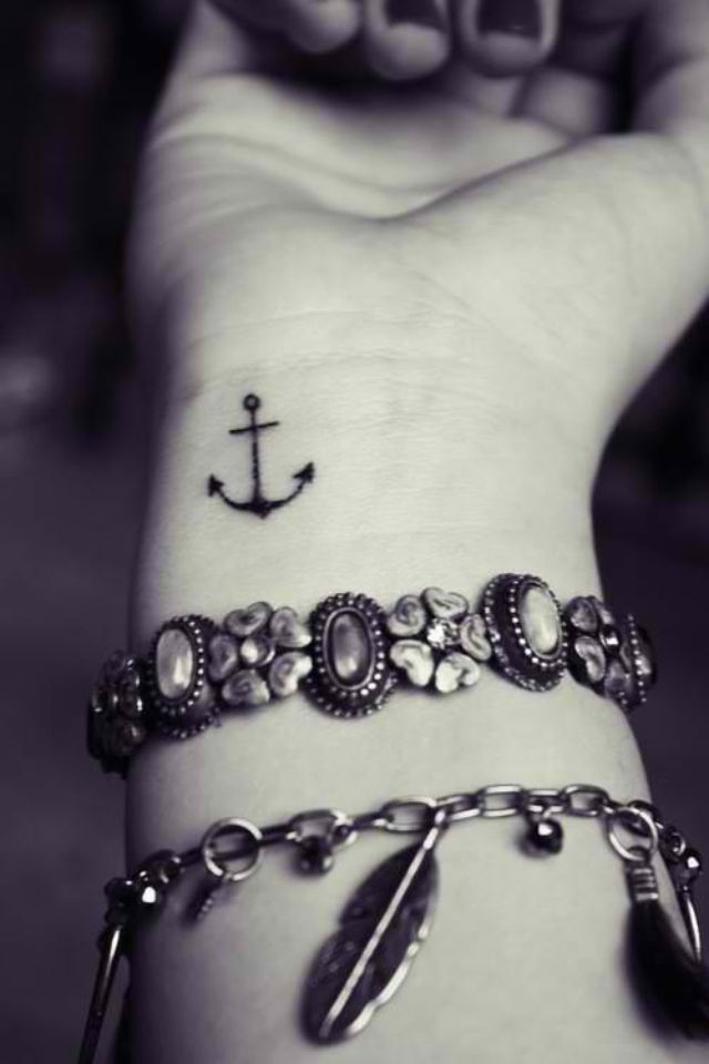 Want this behind my ear but bigger not as small.Anchor tattoo that i want, represent not letting the weight of the world weighing you down.