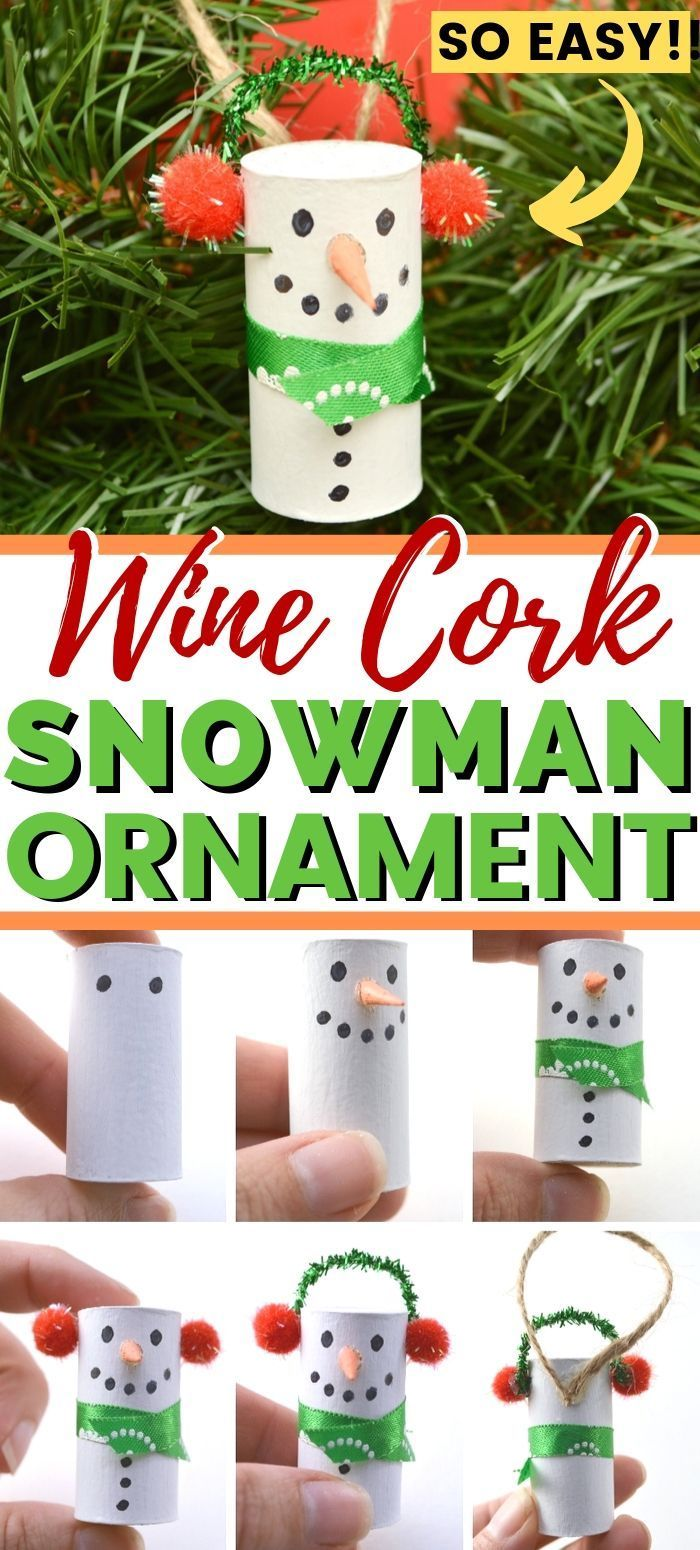 Upcycle Your Wine Corks With This Fun Christmas Ornament Diy Christmascrafts Christmascraftsdiy Winecork Diy Christmas Ornaments Cork Crafts Ornaments Diy