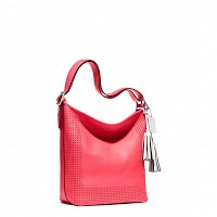 Coach Legacy Perforated Leather Duffle 22762 watermelon