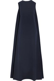 Valentino Cape-back silk-cady gown | NET-A-PORTER