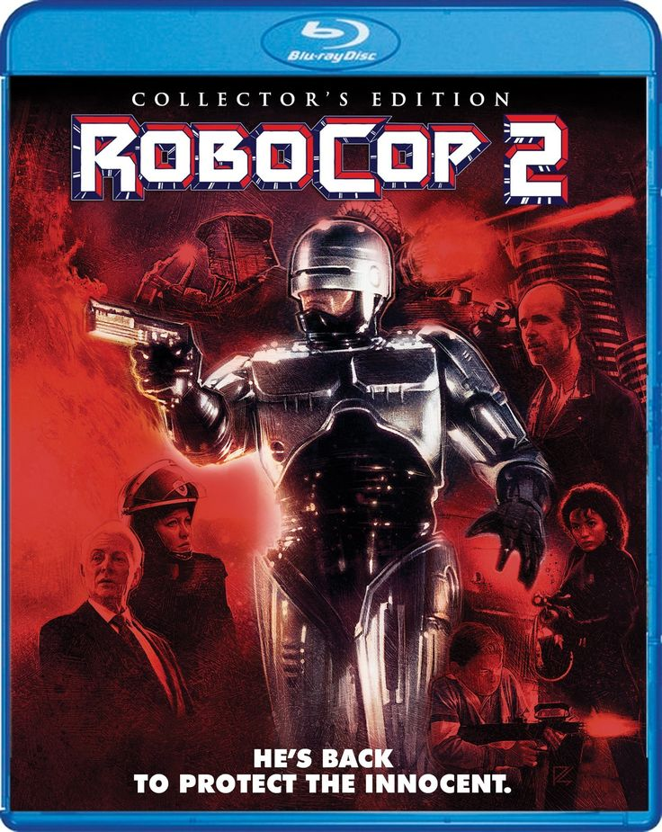 Robocop 2 Shout Factory Collectors Edition Bluray Cover Art 2017 - found on blu-ray.com